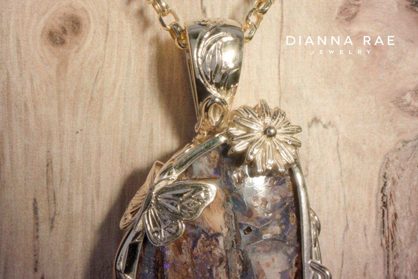 Pendant Jewellery Making Stone 11 Carat Excellent Quality Natural Blue Boulder Opal Gemstone 2544 Hand Cut Australian Opal Koroit Opal